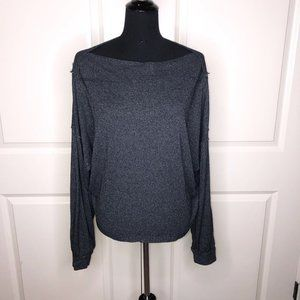 Free People Cropped Boatneck Top